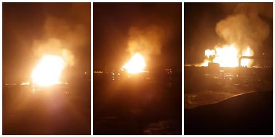 Видео пожара на месторождении в Мангистауской области появилось в Сети