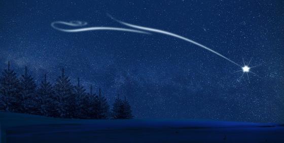 По небосводу летит звезда