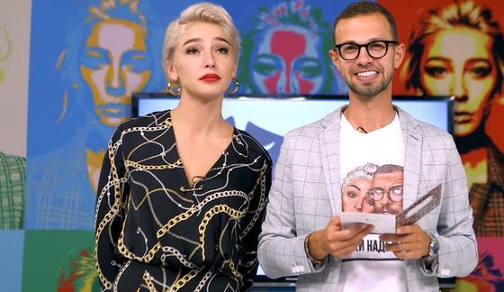 Анастасия Ивлеева и Антон Птушкин в передаче AGENTSHOW