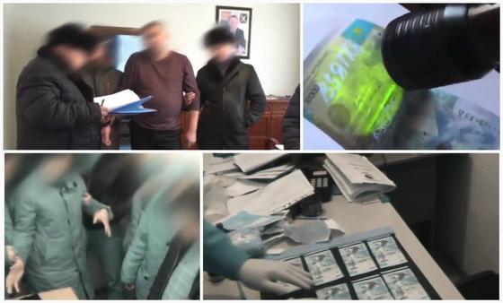 Опубликованы видео новых задержаний чиновников за взятки в Казахстане