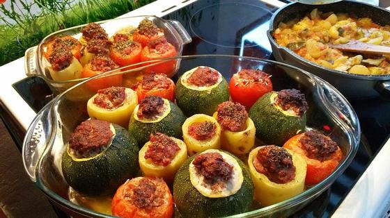 Фаршированные кабачки: рецепты в духовке