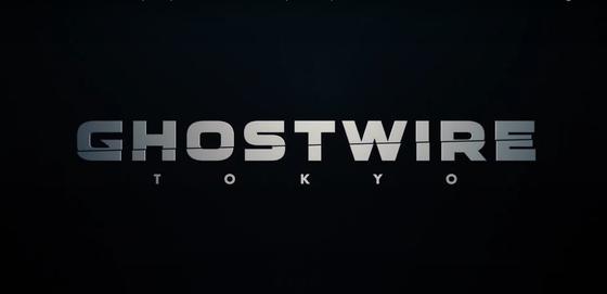 Название игры «GhostWire: Tokyo» на черном фоне