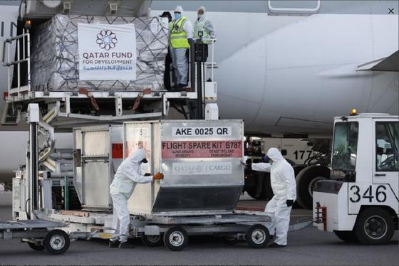 Катардан Қазақстанға 8,5 тонна гуманитарлық көмек жіберді (фото)