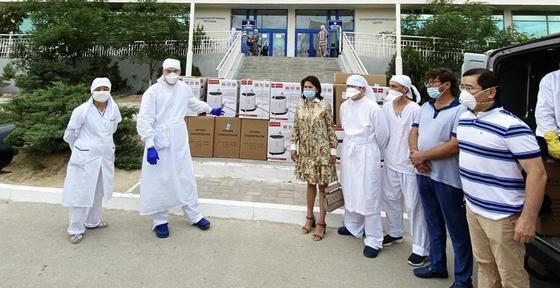 45 кислородных концентраторов привезли в Мангистаускую область