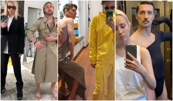 Дима Билан и Павел Воля переоделись в женскую одежду в самоизоляции
