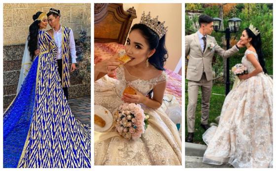 Свадьба Сабины Азимбаевой. Скриншот: instagram.com/sabina_azimbayeva