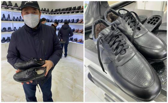 Сакен Калкаманов с обувью