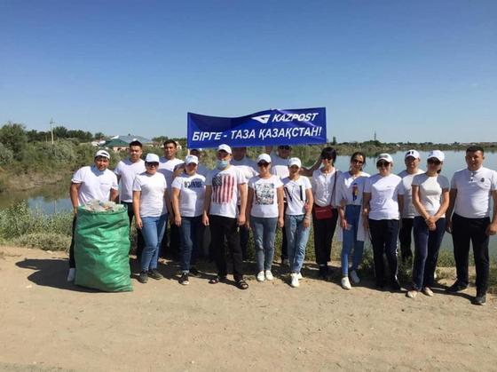 Сотрудники Казпочты собрали 43 тонны мусора в рамках акции #TazaQazaqstan