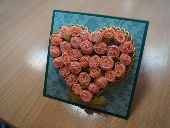 "Открытки на День Валентина своими руками:""Розовое сердце"""