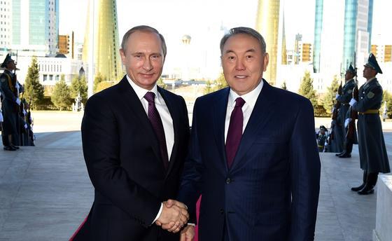 Нұрсұлтан Назарбаев және Владимир Путин. Фото Ақорда мұрағатынан
