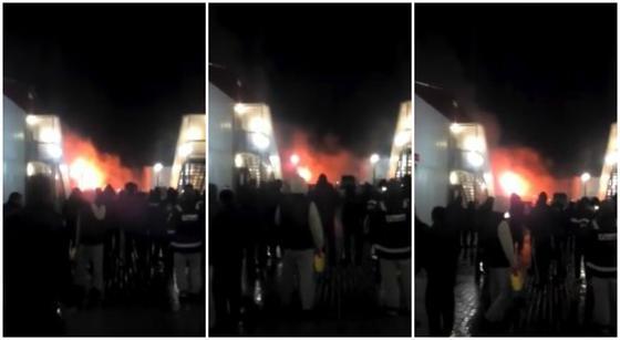 Крупный пожар произошел в вахтовом поселке на Тенгизе