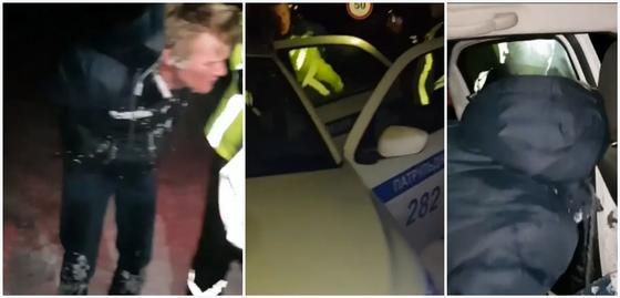 """В Алматинской области полицейские ввели план """"Перехват"""" для поимки автоугонщика (видео)"""