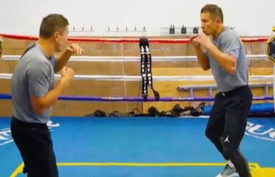 """Головкин показал видео тренировки со своим """"двойником"""""""