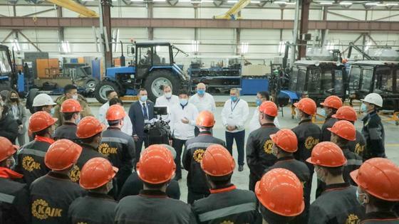Встреча с работниками завода