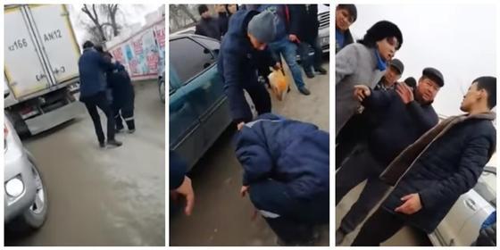 Водитель напал на другого и ударил головой в Актау (видео)
