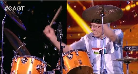 80-летний барабанщик «взорвал» зал своим выступелением