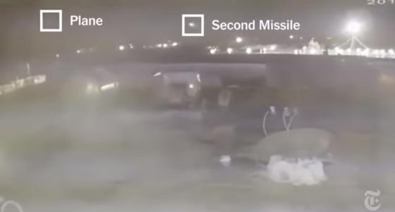 Появилось видео возможного попадания двух ракет в Boeing в Иране
