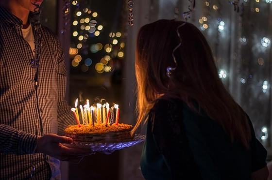 торт свечи