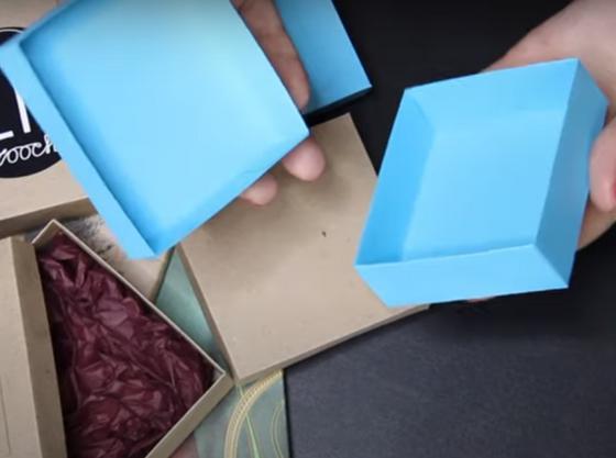 Открытая коробочка для подарка