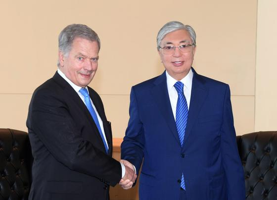 Токаев встретился с президентом Финляндии
