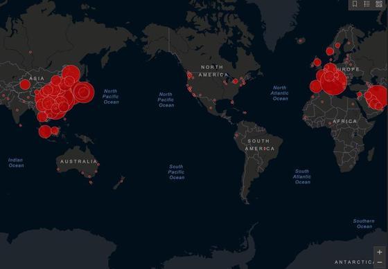 В каких странах нашли коронавирус: карта распространения