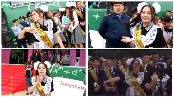 В сети появилось еще одно видео выпускницы, исполнившей энергичный танец на линейке