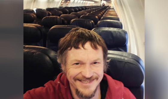 Мужчина оказался единственным пассажиром в самолете на 188 мест (фото)