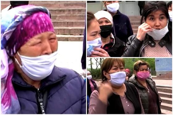 «Продукты в долг беру!»: Не получившие 42 500 жительницы Шымкента устроили скандал