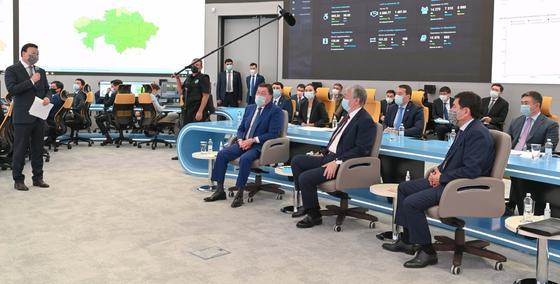 Токаев, Мамин и Цой в Офисе цифрового правительства