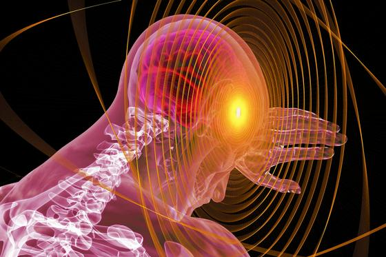 У человека горит височная зона мозга (фантазия)