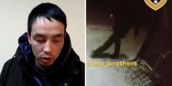 Разбившего остановку хулигана задержали в Астане (видео)