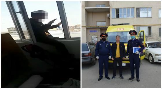 Парень грозился спрыгнуть с 9 этажа после ссоры с сестрой в Шымкенте
