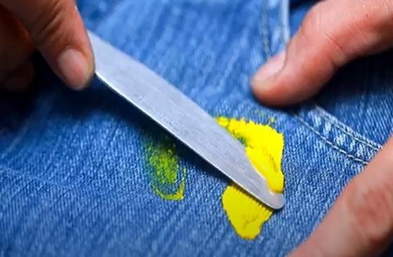 Удаление краски ножом