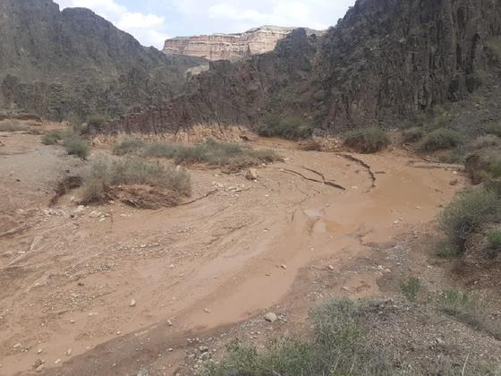 Грязе-селевой поток на Чарынском каньоне