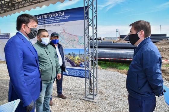 В Шымкенте ведется строительство АГРС-3