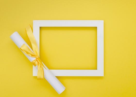 Подарочный сертификат с рамкой