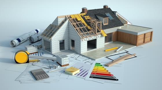 Макет дома демонстрирует план строительства