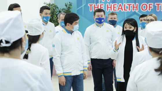 Предвыборный штаб Nur Otan прибыл в Актюбинскую область