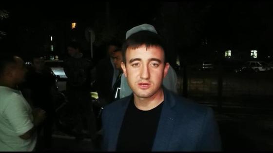 Водители собрались возле полиции в поддержку Руслана Жанпеисова (видео)