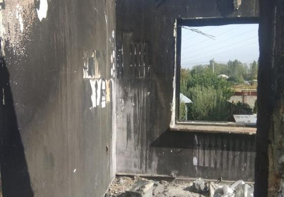 Сгоревший дом изнутри