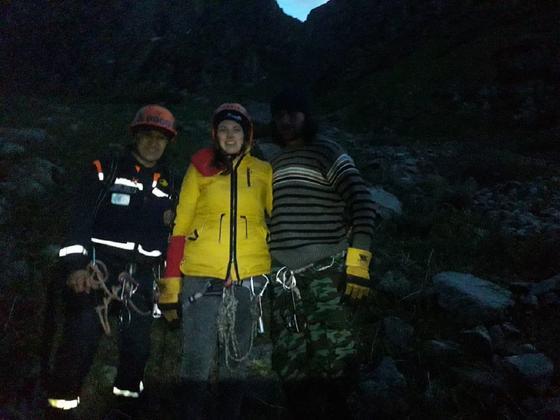 Туристы потерялись в горах