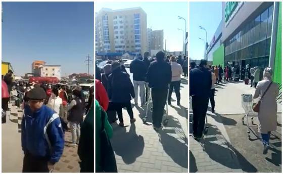 Новые ограничения ввели в Атырау: в магазинах начался ажиотаж (видео)