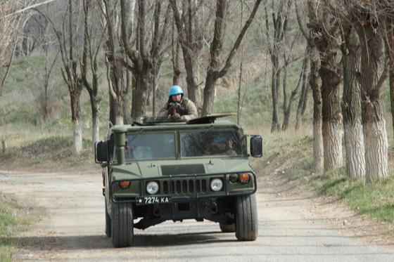 С казахстанскими миротворцами проводят занятия инструкторы из Индии