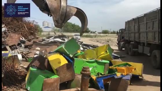 248 игровых терминалов уничтожили в Алматы