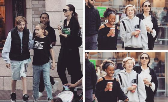 Анджелина Джоли с детьми. Фото: instagram.com/shiloh.jolie.pitt