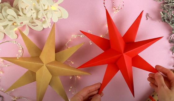 Звезды из бумаги в технике оригами