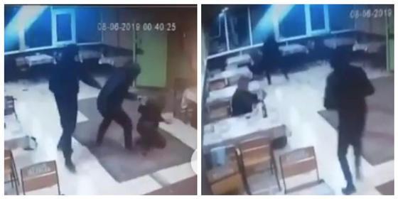 Қарағанды облысында бетперде киген төрт жігіт кафедегі адамдарға шабуылдаған (видео)