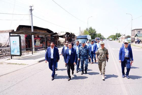 Мамин: инфраструктура и жилой фонд города Арысь будут восстановлены в течение одного месяца