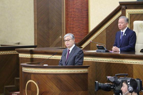 Выступление Касым-Жомарта Токаева на совместном заседании палат парламента
