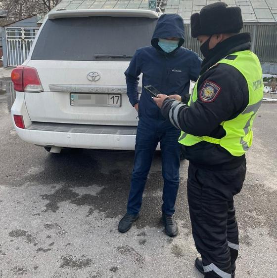 Задержанный в Шымкенте водитель
